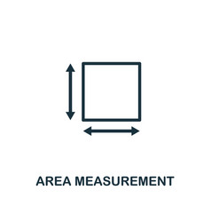 Area measurement icon outline style thin line vector