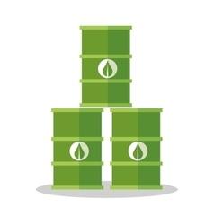 Bio fuel barrel desigin vector