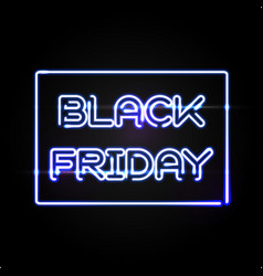black friday light frame advertising design vector image