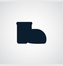 boot icon simple gardening element symbol design vector image