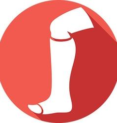 Broken Leg Icon vector image