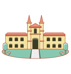 building university isolated icon vector image