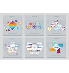 Business infographics modern concept set vector