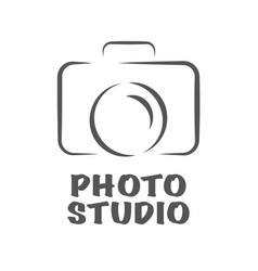 camera icon flat photo camera isolated vector image