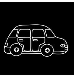 Car symbol black background vector image