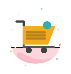 cart shopping shipping item store abstract flat vector image