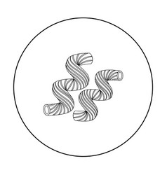 Cavatappi pasta icon in outline style isolated on vector