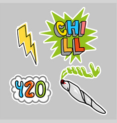 choll sticker pack set vector image