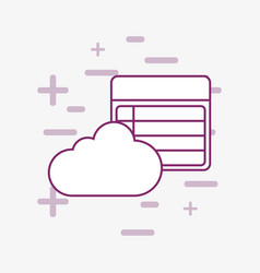 cloud and invoice vector image