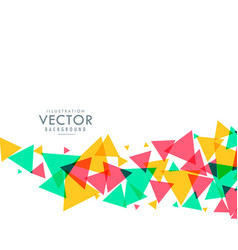 Colorful triangle waves background vector