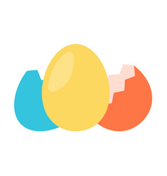 Colorfull egg with shell vector