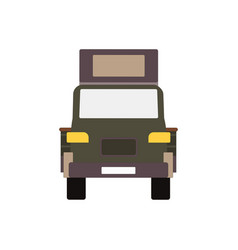 commercial delivery van cargo truck isolated vector image
