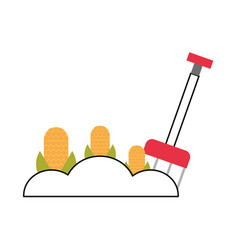 Corn cultivation isolated icon vector