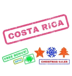 Costa Rica Rubber Stamp vector