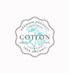 Cotton purveyors frame badge or logo template vector