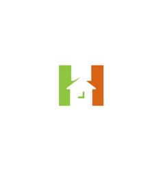 Creative house letter h alphabet logo design vector