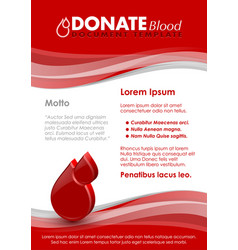 Donate blood document template vector