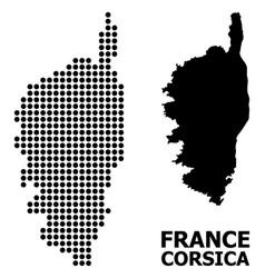 Dot mosaic map corsica vector