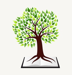 Education concept tree book vector
