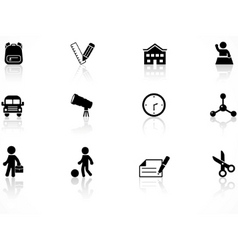 Elementary school icons vector
