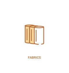 Fabrics concept 2 colored icon simple line vector
