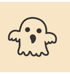 Flat in black and white mobile application ghost vector image