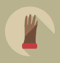 Flat modern design with shadow icons gloves vector