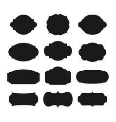 Frames Silhouettes vector image