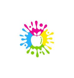 Fruit paint logo icon design vector