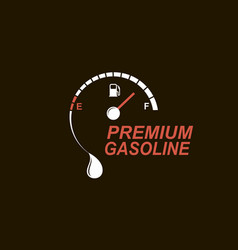 gas station icon vector image