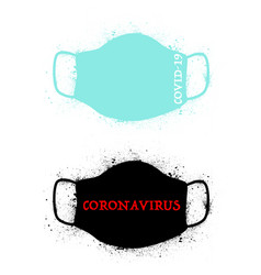 grunge safety breathing masks set vector image