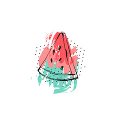 hand drawn abstract creative unusual summer vector image