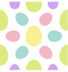 happy easter painting egg painted shell set vector image