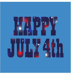 Happy july 4th fireworks pattern vector