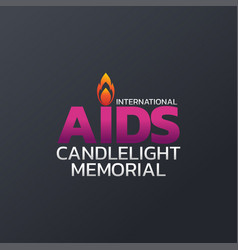 international aids candlelight memorial logo icon vector image