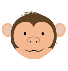 isolated cute monkey avatar vector image