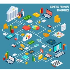 isometric financial flowchart vector image