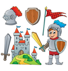 knight theme collection 1 vector image