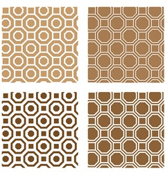 line octagon tile seamless background vector image