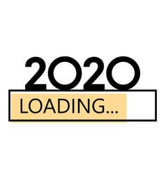 Loading 2020 new year yellow creative festive vector