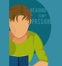 love learning cartoon design vector image