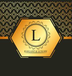 luxury and elegant golden geometric banner vector image