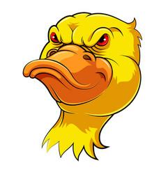 Mascot head an duck vector