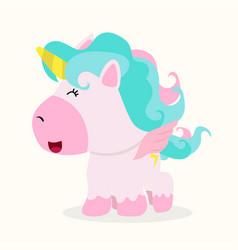 mini unicorn baby vector image