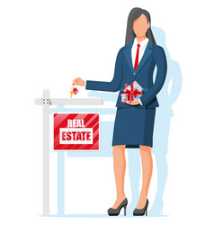 Mortgage property and investment vector