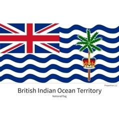 National flag of British Indian Ocean Territory vector image