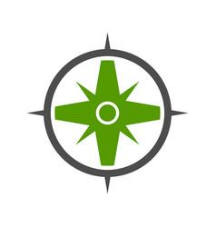 nature green compass symbol logo design vector image