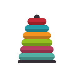 pile rings toy icon vector image