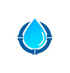 Pipe water logo icon design vector