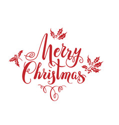 Red christmas lettering vector